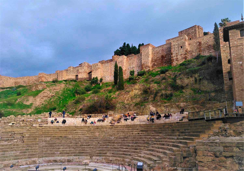 alcazaba y teatro malaga